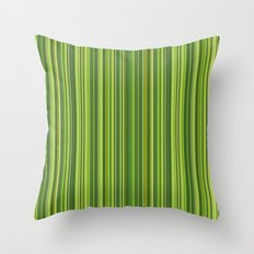 Many multicolored strips in the green sample Throw Pillow