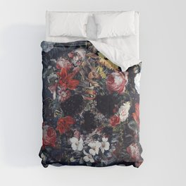 Flower Skull II Comforters