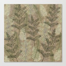 Ferns Beige Canvas Print