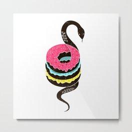 Snake Donuts Metal Print