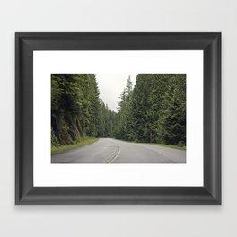 lonely road. Framed Art Print