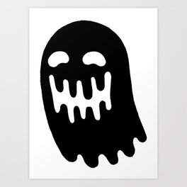 Dripping Ghost Art Print