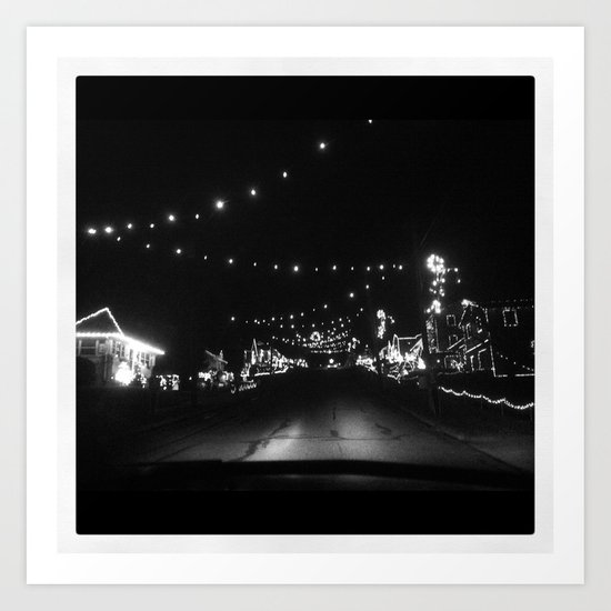 Candy Cane Lane Art Print