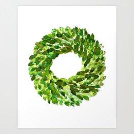 Boxwood Wreath Art Print