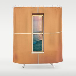 window to the beach Shower Curtain