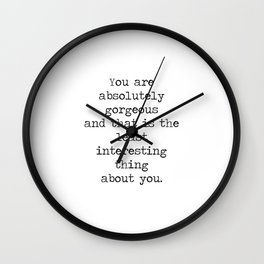 Absolutely Gorgeous Wall Clock