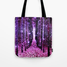 Magical Forest Pink & Purple Tote Bag