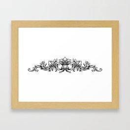 Symmetry Ornament Framed Art Print