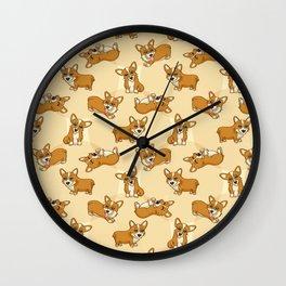 Corgis - Cream Wall Clock