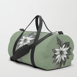 Florida Flower with Green Background Duffle Bag