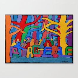 Dancing Trees in the Park Canvas Print