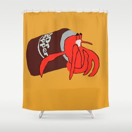 Hermit Crab In A Can Shower Curtain