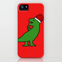Christmas T-Rex iPhone Case