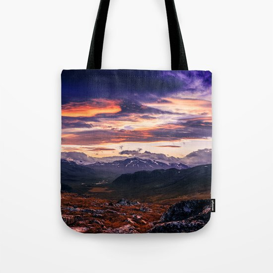 Cloud Covered Mountains Tote Bag