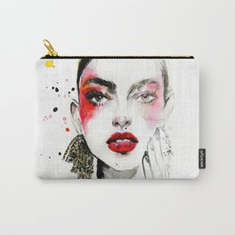 Red makeup fashion Carry-All Pouch