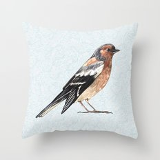 Watercolor nightingale Throw Pillow