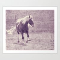 pony Art Prints featuring Pony by Angelandspot