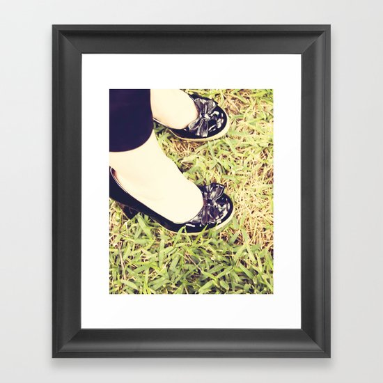Fancy SHoes Framed Art Print