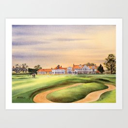 Muirfield Golf Course 18th Green Art Print