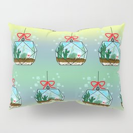 Cactus Terrarium Christmas Gift Pillow Sham