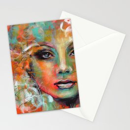 Little Colorgirl Original Painting Stationery Cards