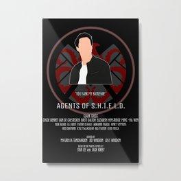 Agents of S.H.I.E.L.D. - Ward Metal Print