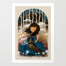 There Once Was A Girl In A Whimsical Land Art Print
