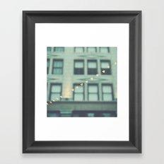 hearts. An Urban Romance No. 2., bokeh downtown Los Angeles photograph Framed Art Print