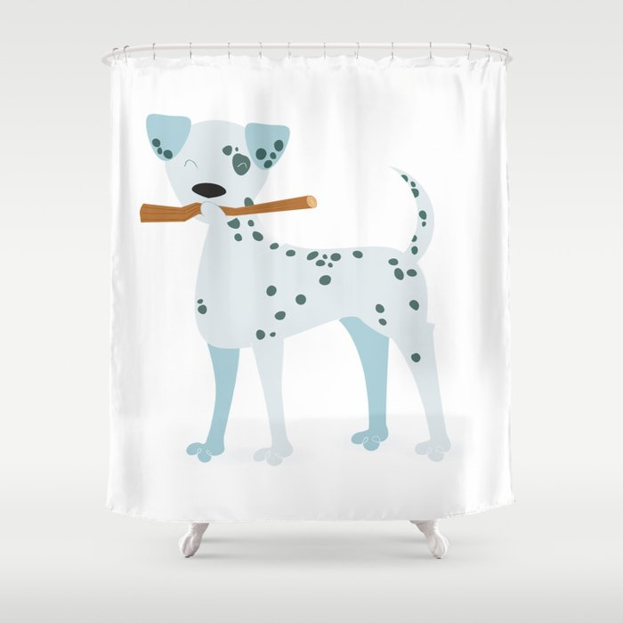 The Dalmatian Is Out Shower Curtain By Fabiorex