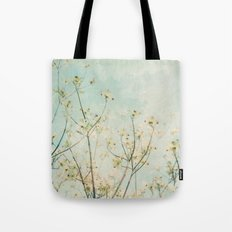 White Dogwood Tree Spring Flower Branches Painterly Tote Bag