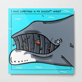 Bowheadwhale Metal Print