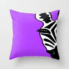 Zebra Purple Throw Pillow