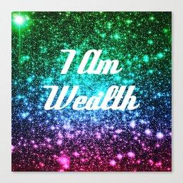 Wealth Affirmation Galaxy Sparkle Stars Canvas Print