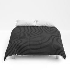 Organic Abstract 01 BLACK Comforters