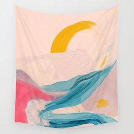 Abstract Vintage Line Sunset Wall Tapestry