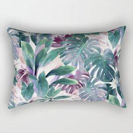 Tropical Emerald Jungle in light cool tones Rectangular Pillow