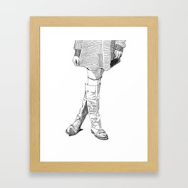 Leather Boots Framed Art Print