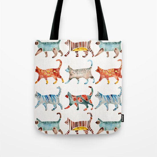 Cat Collection: Watercolor Tote Bag