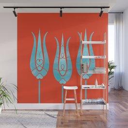Turkish Tulips ethic design Wall Mural