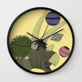 Playful Dinosaur Wall Clock