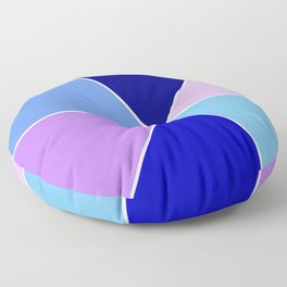 Just two colors 22 blue Floor Pillow
