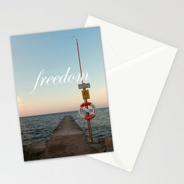 Freedom (with words) Stationery Cards