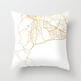 CAPE TOWN SOUTH AFRICA CITY STREET MAP ART Throw Pillow