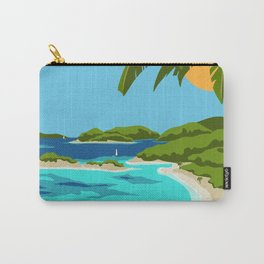 USVI Travel Poster Carry-All Pouch