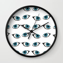 Blue eyes pattern Wall Clock