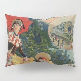 Vintage Auvergne French travel advertising Pillow Sham