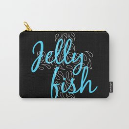 Jellyfish Cross Black Carry-All Pouch