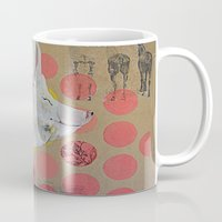 pig Mugs featuring pig by ferzan aktas