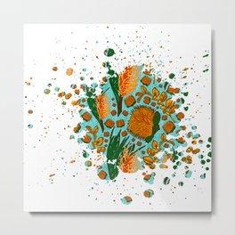 Australian Native Floral Graphic Print Metal Print