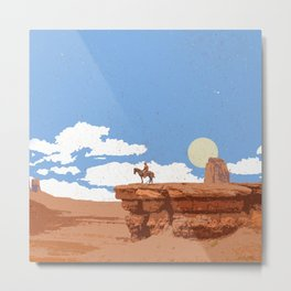 OUT WEST Metal Print